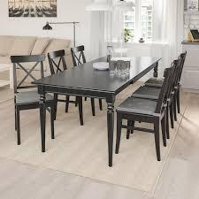 ingatorp ingolf tisch und 6 stühle schwarz braunschwarz 155 215 cm