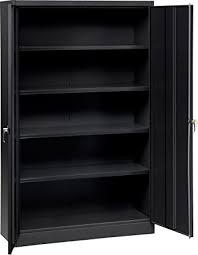 tennsco j2478su heavy gauge steel jumbo storage cabinet 5 shelves