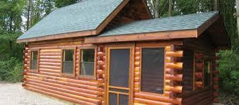 Amish Prefab Homes Small Cabin Kits Modular Log 19 Deer Run Cabins