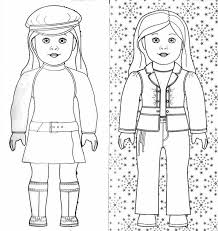 6 American Girl Coloring Pages Only Barbie Doll Printable