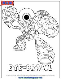 Skylanders Giants Undead Eye Brawl Coloring Page