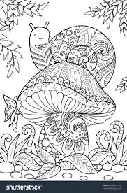 Saunders Veterinary Anatomy Coloring Book Download Snail Sitting Beautiful Mushroom Shirt Design Tattoo Adult Animal Pdf