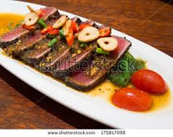 japanese fusion cuisine spicy tuna japanese fusion cuisine stock photo 175817999