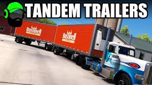 American Truck Simulator - TANDEM I Mean Double Trailers - YouTube