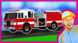 Blippi Fire Trucks For Children | Fire Engines For Kids And Fire ...