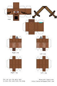 Minecraft Sword Pumpkin Carving Patterns by Papercraft Steve With Leather Armor And Wooden Sword Halloween