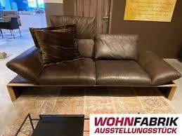 sofa hugho koinor echtleder ausstellungsstück reduziert