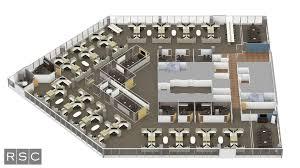 3D Rendering Top Down fice Floor Plan3D Rendering