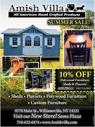 Sheds Near Albany Ny by Summer Sale Amish Villa