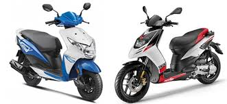 Honda Dio Vs Aprilia SR 150 Comparison