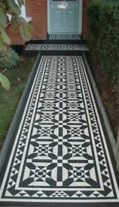 olde tiles used to create a custom pattern and border
