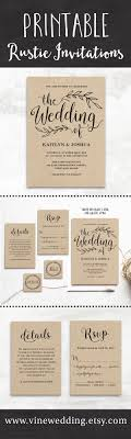 Beautiful Rustic Wedding Invitations Editable Instant Download Templates You Can Print As Many