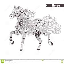 Royalty Free Vector Download Horse Coloring Book