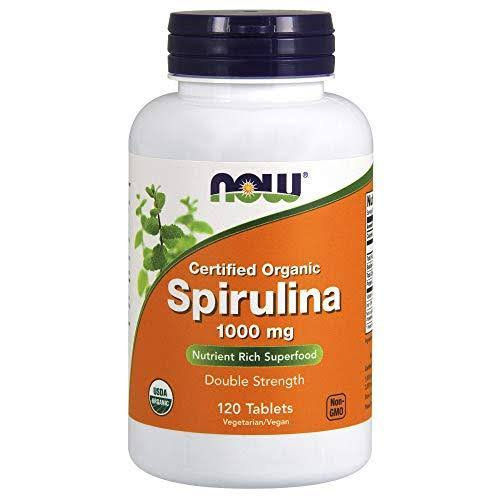 NOW Foods Certified Organic Spirulina - 1000mg, 120 Tablets
