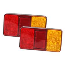 Buy Now Pair LED Trailer Tail Lights Stop Brake Indicator Lamp 12V ... 2x Led Rear Tail Lights Truck Trailer Camper Caravan Bus Lorry Van 0708 Dodge Ram Pickup Euro Red Clear 111 Round And W Builtin Reflector 4 Inch Led Whosale 2018 8 Car Light Warning Rear Lamps Waterproof Amazonca Trucklite 44022r Super 44 Stopturntail Kit 42 2 Pcs With License Plate Lamp Durable Lights Ucktrailer Circular Stoptail Lamp 1030v 1 Pair 12v Turn Signal 20fordf150taillight The Fast Lane