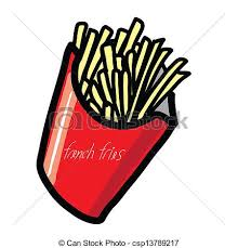 French Fries Hand Draw Vector