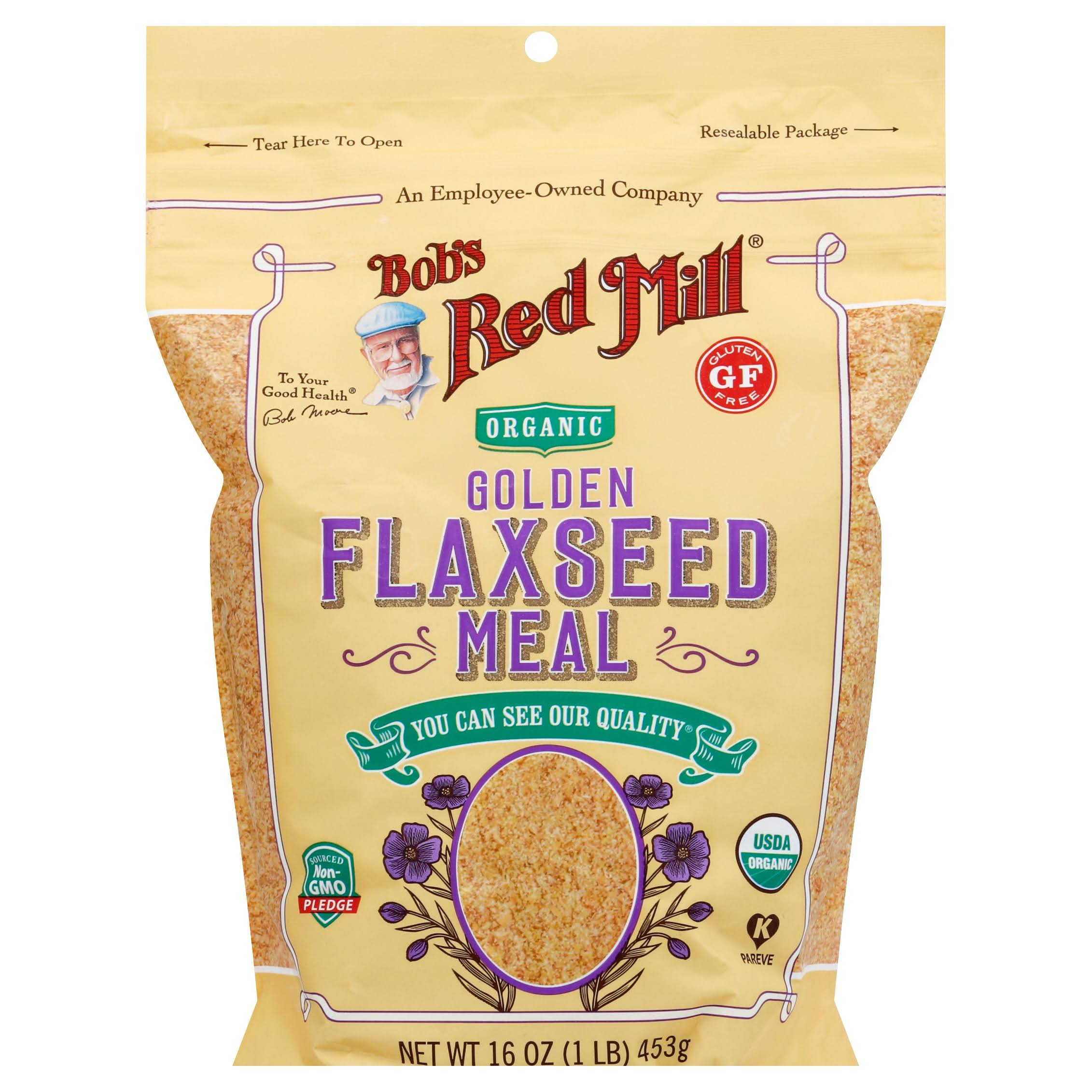 Bobs Red Mill Flaxseed Meal, Organic, Golden - 16 oz