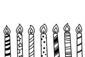 Candle Black And White Clipart Candle Black And White Birthday Candle Clip Art Black And White Uk Print Coloring Pages