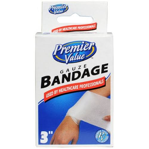 Premier Value Gauze Bandage 3 inch - 1ct
