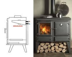 cuisine poele a bois poêle à bois bouilleur production d eau chaude depuis la cheminée