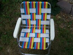 Vintage Child39s Lawn Chair Webbed Aluminum By Modern ...