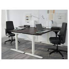 Borgsjo Corner Desk Assembly Instructions by Bekant Corner Desk Left Birch Veneer White Ikea