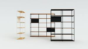 Ike Shelves Stacking Shelf Units Metal And Wood Bookcase Modular