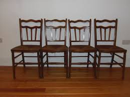 100 Birch Dining Chairs Arts Crafts Set Of Four Possibly By William