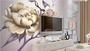 schöne handgemalte tapete moderne pfingstrose große tapete wandbild für bett wohnzimmer tapeten wohnkultur 3d