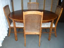 OAK OVAL DINING TABLE WITH FOUR MATCHING OAK AND CANE BACK DINING CHAIRS  FREE DELIVERY | In Castlemilk, Glasgow | Gumtree Set Of Four Ethan Allen Cane Back Ding Chairs Ebth Chair Fniture Outlet Atlanta Fair Eastgate Row Spokane Room French Provincial Cane Back Ding Chairs Thomasville Room Ideas Eight Mid Century Modern S8 Milo Baughman New Fabric Chrome Pair Vintage French Country Arm 2 Ideas On For Sale Au Uk Pwick Antiques English And Montgomery Alabama Fishmag