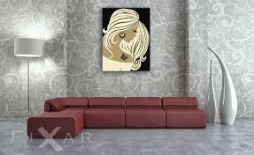 ein frauenprofil poster und wandbilder für wohnzimmer