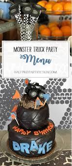 100 Monster Truck Theme Party Menu Halfpint Design