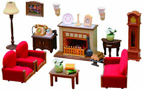 sylvanian luxury living room set