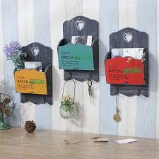 zakka vintage wood mail letter organizer holders hanging key rack