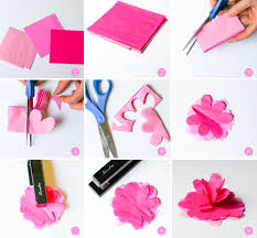 How To Make Paper Flowers With Tissue Step By Best Of Flower Cutting Patterns Decoration Ideas