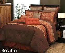Firstclass Orange Bedroom Sets Brown Bedspread Orange And Brown