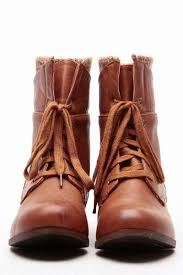 faux leather lace up ankle knit boots cicihot boots catalog