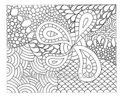 Childrens Zendoodle Coloring Page PDF 66 Printable Instant Download