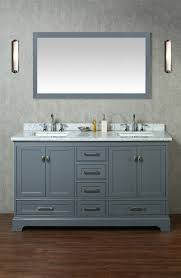 Bathroom Vanities 60 Inches Double Sink by Stufurhome Newport Grey 60 Inch Double Sink Bathroom Vanity With
