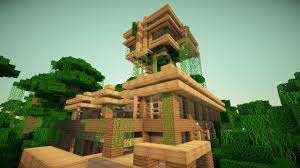 Minecraft Kitchen Ideas Keralis by Amazing Tree House In Jungle Best House Design