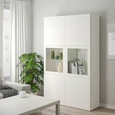 bestå vitrine weiß lappviken sindvik klarglas weiß 120x42x193 cm