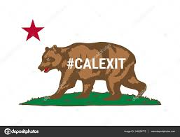 Flag Of California American State Vector Illustration By Nastya Mal