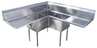 three compartment kitchen sink kitchen sink