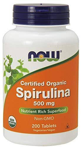 NOW Foods Organic Spirulina Vegetarian Tablets, 500 mg - 200 count