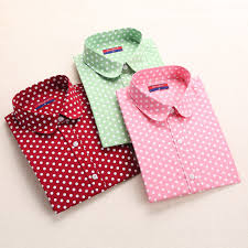 popular polka dot blouse buy cheap polka dot blouse lots from