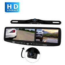 Pyle® PLCMDVR8 - Rear View Mirror With Built-in 4.3