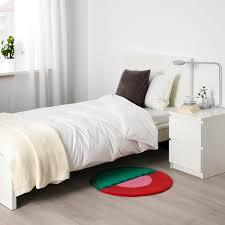 langesö teppich kurzflor rot grün 70 cm
