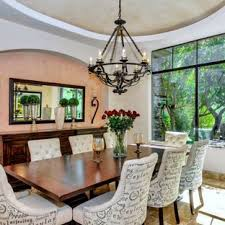 Inspiration For A Mediterranean Dining Room Remodel In Phoenix With Multicolored Walls