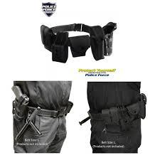 black police nylon pro security guard complete duty belt rig kit