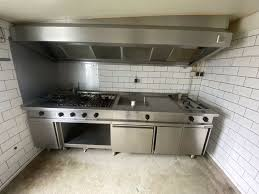 gastro küche edelstahl friteuse kochfeld ambach